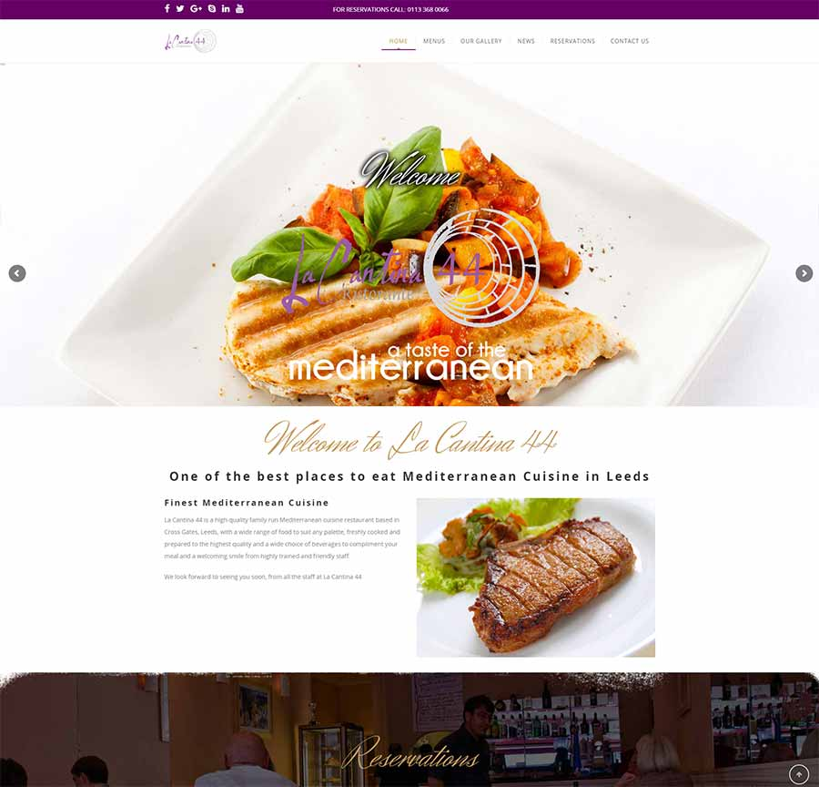 La Cantina New Website